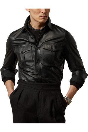 Ralph Lauren Men's Plonge Lambskin Leather Shirt Jacket