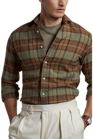 Ralph Lauren Men's Plaid Long Sleeve Button-Up Shirt
