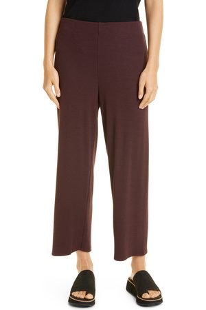 Eileen Fisher Women's Rib Straight Leg Crop Pants