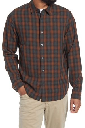 Vince Men's Canyon Shadow Plaid Button-Up Shirt