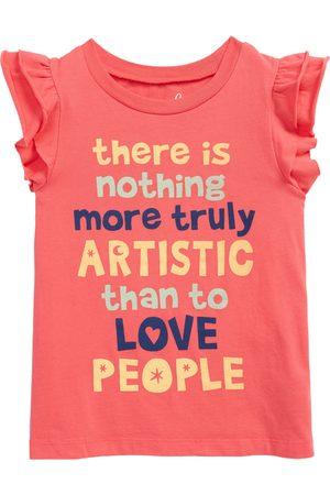 Peek Aren't You Curious Toddler Girl's Kids' Van Gogh Love People Flutter Sleeve Top