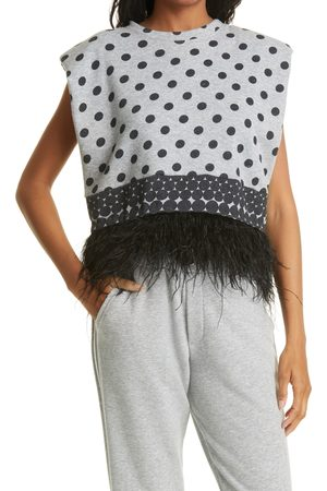 Le Superbe Women's Seeing Double Feather Top