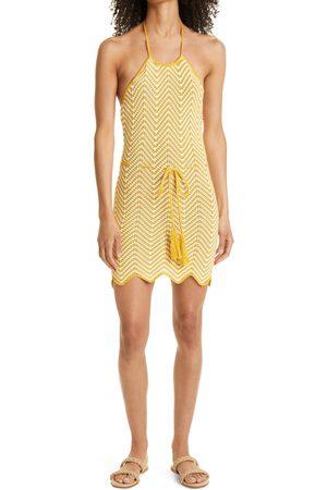 RONNY KOBO Women's Chantal Tie Waist Halter Knit Minidress