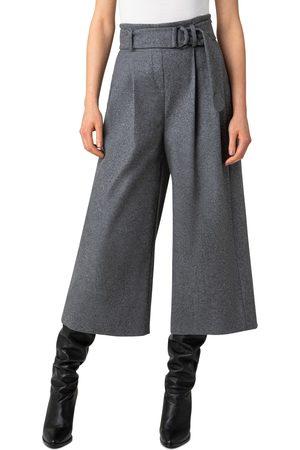AKRIS Women's Fiorella Belted Wool Blend Flannel Culottes