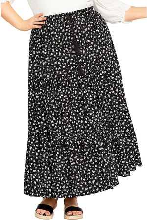 City Chic Plus Size Women's Sweet Ditsy Floral Maxi Skirt