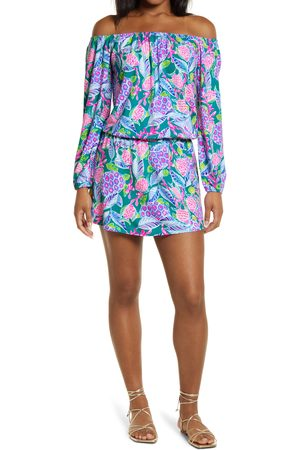 Lilly Pulitzer Women's Lilly Pulitzer Lana Off The Shoulder Long Sleeve Skort Romper
