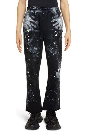 Balenciaga Men's Painter Raw Hem Cotton Sweatpants