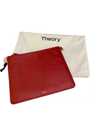 THEORY Leather clutch bag