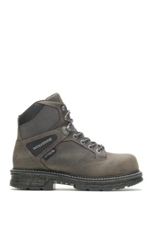 """Wolverine Men Boots - Men's Hellcat UltraSpring™ 6"""" CarbonMAX Work Boot Charcoal Grey, Size 9 Extra Wide Width"""