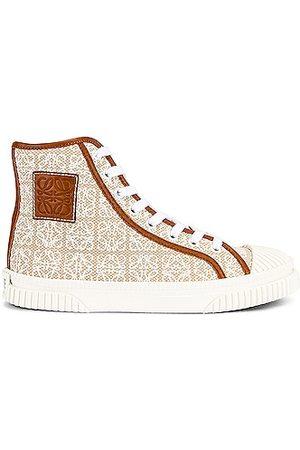 Loewe High Top Sneaker in Beige