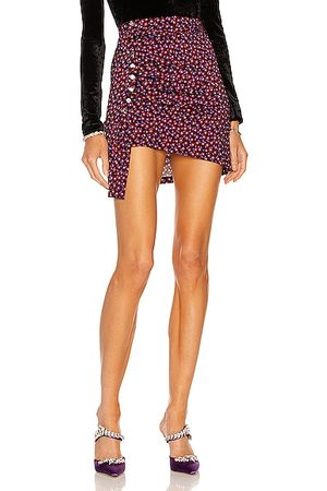 Paco rabanne Ruched Mini Skirt in Red