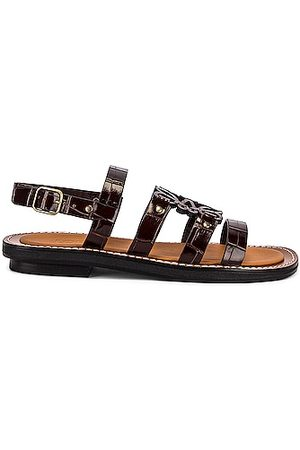 Loewe Leather Anagram Sandal in