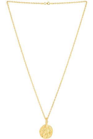 Pamela Card Last Lyre Necklace in Metallic
