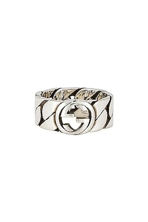 Gucci Interlocking G 8mm Ring in Metallic