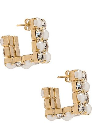 ROSANTICA Polka Earrings in Metallic