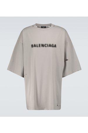 Balenciaga Blurred logo wide-fit T-shirt