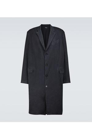 Balenciaga Faded tailored cotton coat