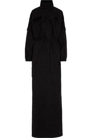 Balenciaga Funnel-neck cargo maxi dress