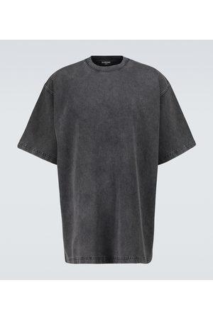 Balenciaga Short-sleeved denim-style T-shirt