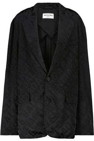 Balenciaga Logo jacquard blazer