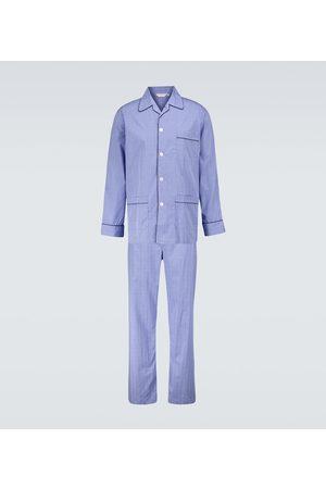DEREK ROSE Felsted 3 checked cotton pajama set