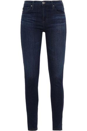 AG JEANS Women Skinny - Woman Legging Ankle Mid-rise Skinny Jeans Dark Denim Size 23