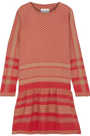 CECILIE COPENHAGEN Women Party Dresses - Woman 2o Gathered Cotton-jacquard Mini Dress Tomato Size S