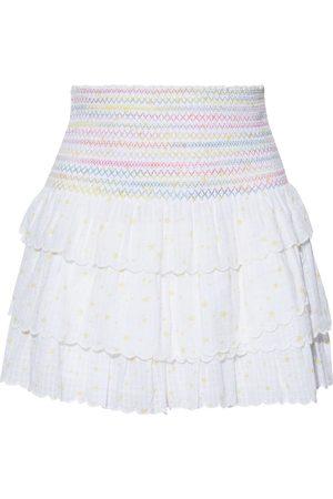 LOVESHACKFANCY Woman Daffodil Tiered Printed Cotton-jacquard Mini Skirt Size XS