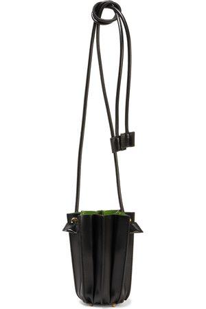 Sara Battaglia Women Purses - Woman Plissé Micro Leather Bucket Bag Size