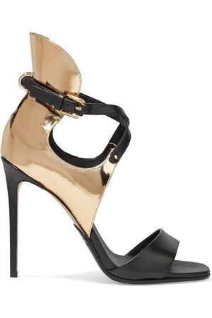 Balmain Women Heeled Sandals - Woman Acacia Smooth And Mirrored-leather Sandals Size 37