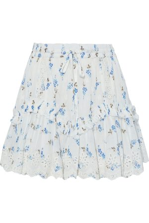 LOVESHACKFANCY Woman Becca Floral-print Broderie Anglaise Cotton-voile Mini Skirt Size S