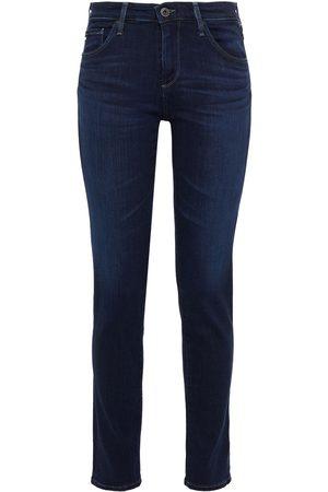 AG JEANS Woman Prima Mid-rise Skinny Jeans Dark Denim Size 23