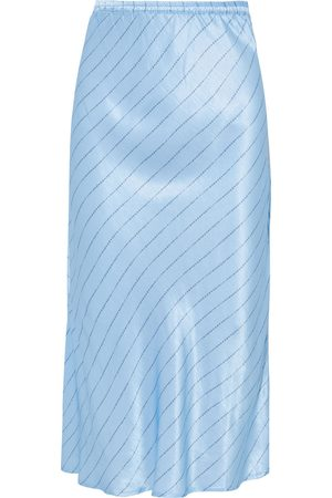 CECILIE COPENHAGEN Women Printed Skirts - Woman Gryith Fluted Printed Satin Midi Skirt Light Size S