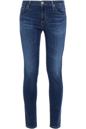 AG JEANS Woman Legging Ankle Faded Low-rise Skinny Jeans Dark Denim Size 23