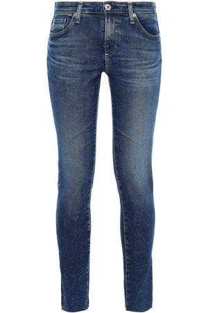 AG Jeans Women Skinny - Woman Legging Ankle Faded Mid-rise Skinny Jeans Dark Denim Size 23