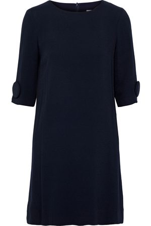 GOAT Woman Frame Button-embellished Crepe Mini Dress Midnight Size 8