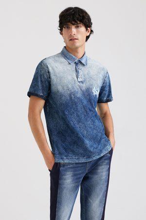 Desigual Tropical dégradé polo shirt