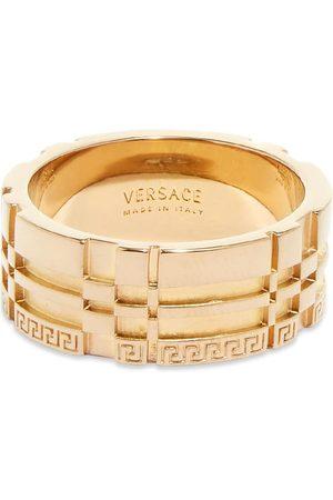 Versace Men Rings - Logo Geometric Ring