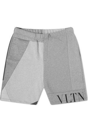 Valentino Men Shorts - VLTN Patchwork Jersey Shorts