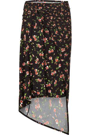 Paco rabanne Floral-print stretch-jersey midi skirt