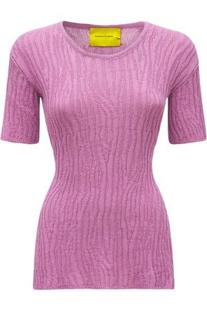 MARQUES'ALMEIDA Women Backless Tops - Recycled Cotton Knit Top W/ Open Back