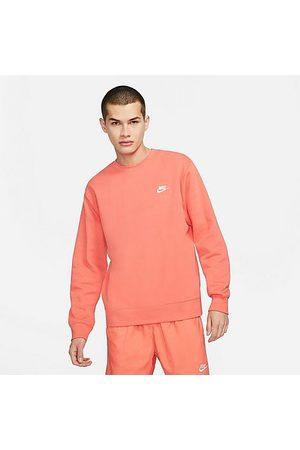 Nike Sportswear Club Fleece Crewneck Sweatshirt in Pink/Magic Ember Size Small Cotton/Polyester/Fleece