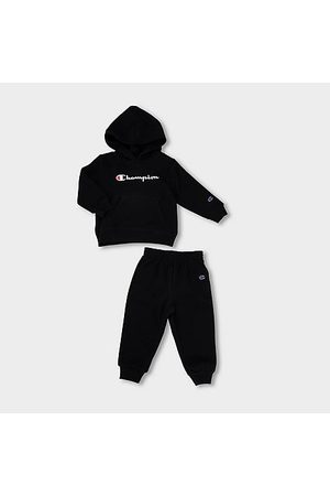 Champion Hoodies - Boys' Infant Classic Script Hoodie and Joggers Set in / Size 12 Month Cotton/Fleece