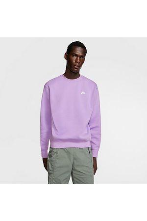 Nike Sportswear Club Fleece Crewneck Sweatshirt in /Violet Star Size X-Small Cotton/Polyester/Fleece