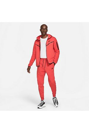 Nike Tech Fleece Taped Jogger Pants in Red/Lobster Size X-Small Cotton/Polyester/Fleece