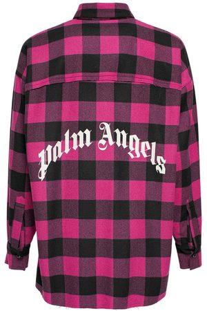 Palm Angels Flannel Logo Cotton Overshirt