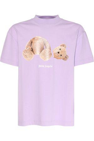 Palm Angels Logo & Bear Print Cotton Jersey T-shirt