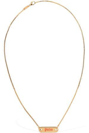 Palm Angels Men Necklaces - Logo Plate Necklace