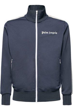 Palm Angels Men Jackets - Logo Tech Jersey Track Jacket