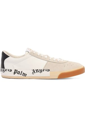 Palm Angels Men Sneakers - New Vulcanized Suede & Leather Sneakers